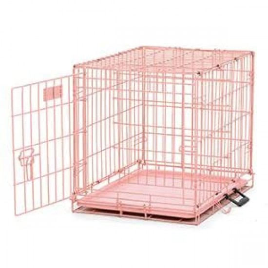 Small Dog Crate Pink   Dog Beds